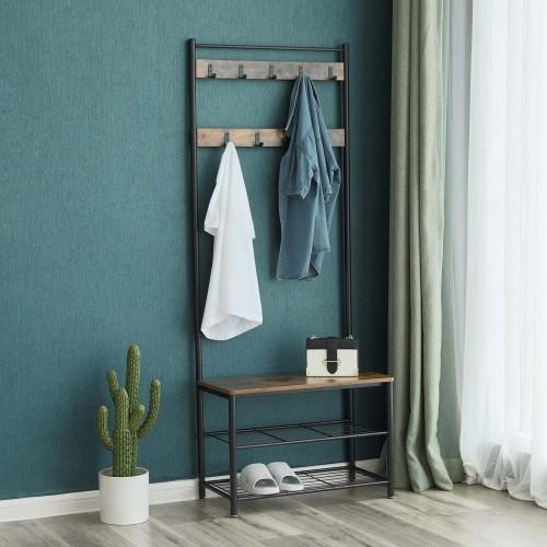 Rustic Homeoffice Design: Industriestil Garderobe & Schuhablage