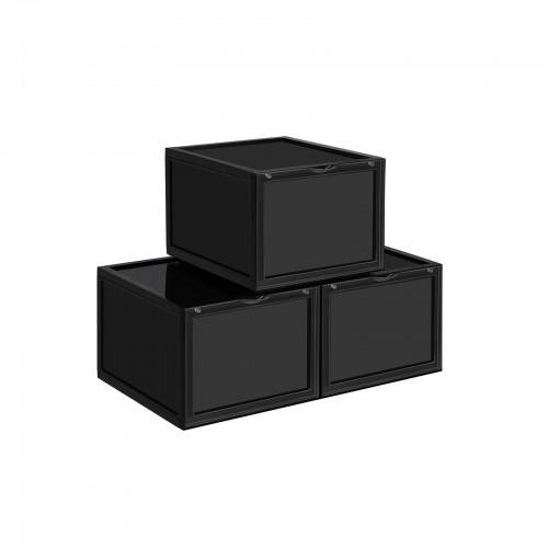 4 Seite Sichtbar Kunststoffbox mit HD durchsichtiger T/ür ONCCI Schuhbox f/ür Schuhe bis Gr/ö/ße 46 36 x 28 x 22 cm stapelbarer Schuhorganizer Schuhaufbewahrung 2 Pack Ausstellung Box