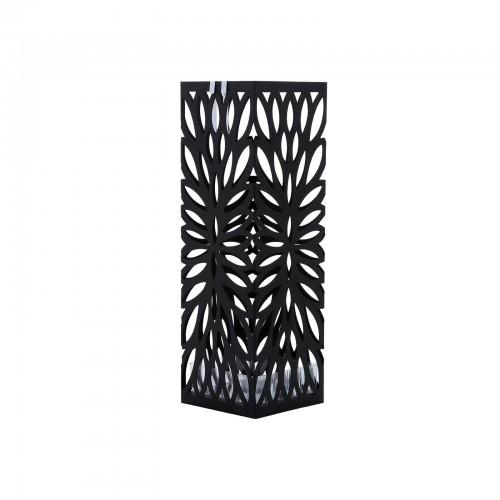 SONGMICS Schirmst/änder Metall Regenschirmst/änder mit Wasserauffangschale Haken 15,5 x 15,5 x 49 cm schwarz LUC48B