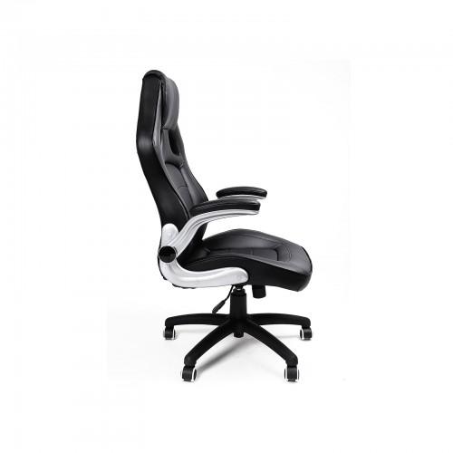 SONGMICS Bürostuhl Gaming Stuhl PU Kunstleder Armlehnen einstellbar OBG62B