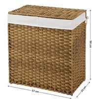 Wäschekorb Polyrattan 110 L Natur
