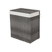 Wäschekorb Polyrattan 110 L Grau