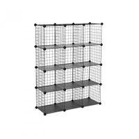 Steckregalsystem mit 12 Gitterwürfeln