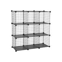 Steckregalsystem mit 9 Gitterwürfeln