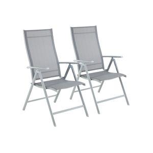 Gartenstühle 2er Set Grau