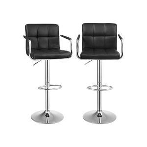Barstühle mit Armlehne 2 Stk Schwarz