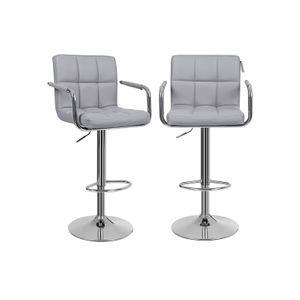 Barstühle mit Armlehne 2 Stk Grau