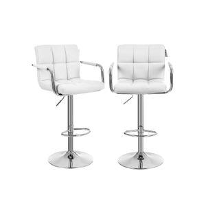 Barstühle mit Armlehne 2 Stk Weiß