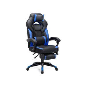 Gamingstuhl Schwarz-Blau