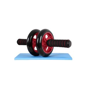 Bauchroller mit Trainingsmatte Rot