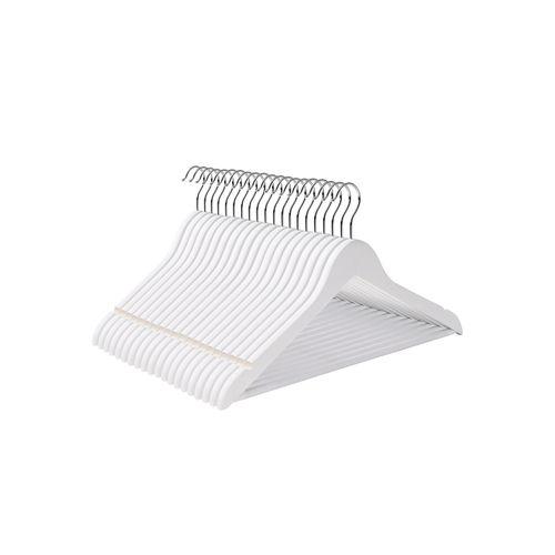 Kleiderbügel Ahornholz 20 Stück Weiß