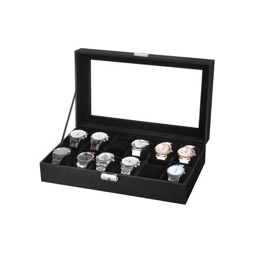Stilvolle Uhrenbox  für 12 Uhren