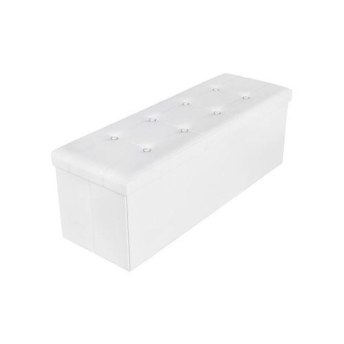 Polsterbank mit Stauraum 110 cm Weiß