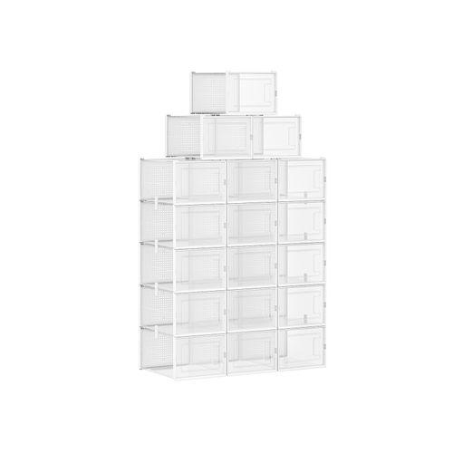 Schuhboxen transparent-weiß