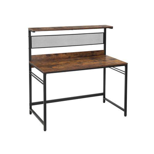 Schreibtisch mit Regalebene