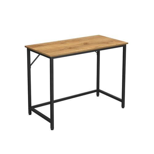 Schreibtisch honigbraun-schwarz