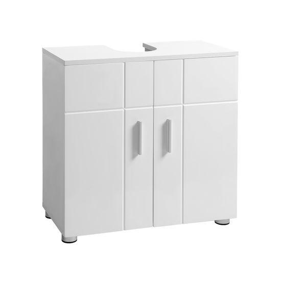 Waschbeckenunterschrank Doppeltür Weiß
