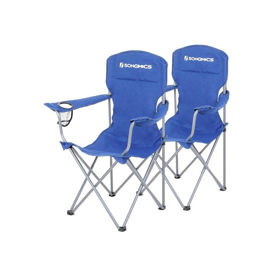Campingstuhl 2er-Set blau
