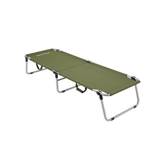 Campingbett 190 x 63 x 36 cm Oliv