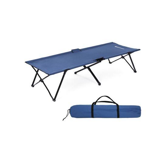 Hochbelastbares Campingbett Blau