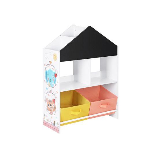 Kinderzimmerregal schwarz orange und gelb