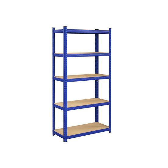 Lagerregal 180 x 90 x 40 cm blau