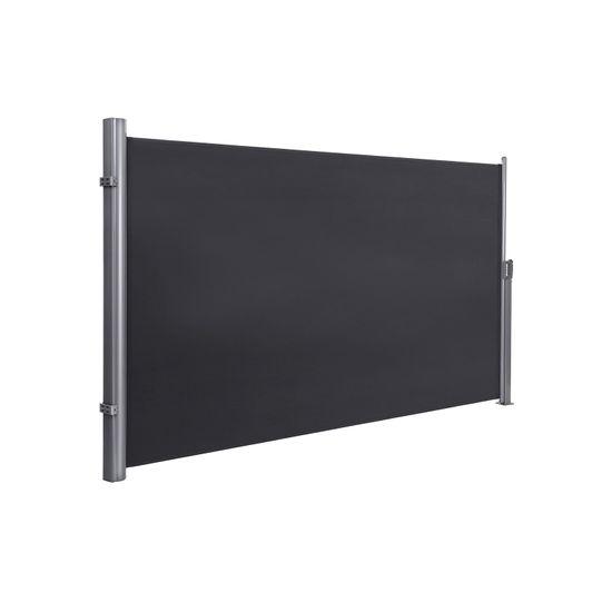 Seitenmarkise 180 x 350 cm Rauchgrau