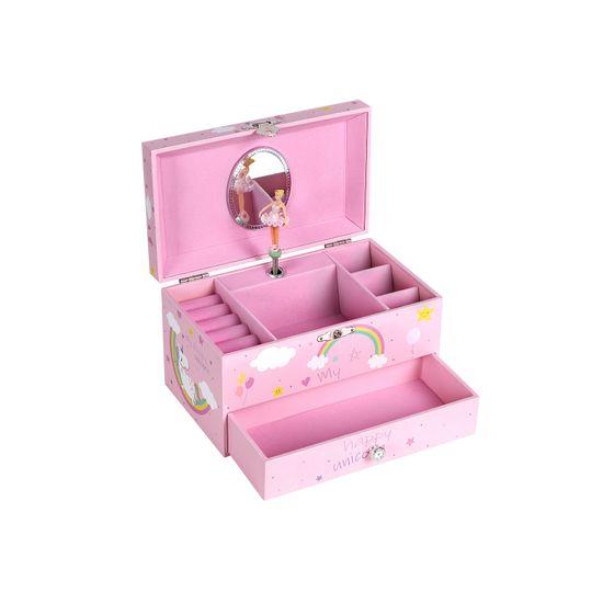 """Spieluhr """"Regenbogeneinhorn"""" Pink"""