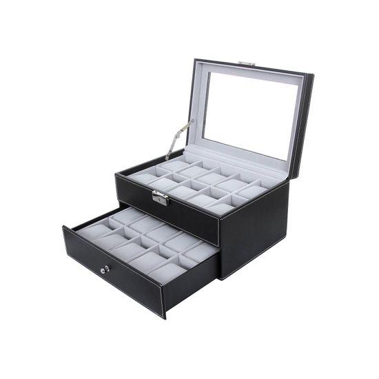 Elegante Uhrenbox für 20 Uhren