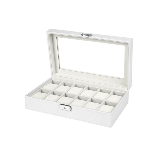 Weiße Uhrenbox  für 10 Uhren