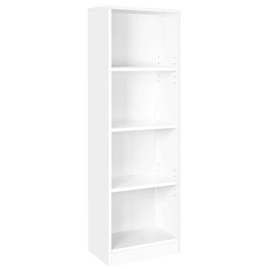 Schlichtes Bücherregal 4 Fächer Weiß
