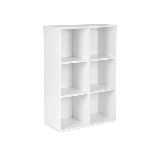 Bücherregal 6 Fächer Weiß