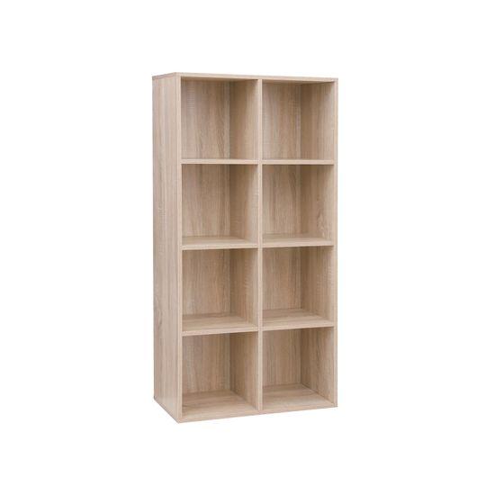 Schlichtes Regal 8 Fächer Holzoptik