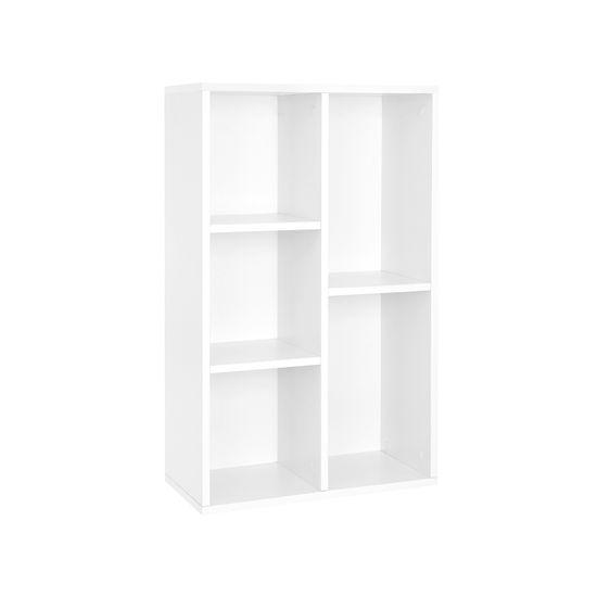 Bücherregal 5 Fächer Weiß