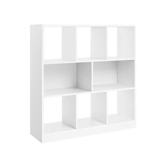 Bücherregal 8 Fächer Weiß