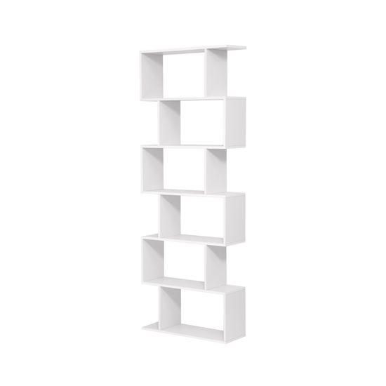 Bücherregal ZickZack-Form Weiß
