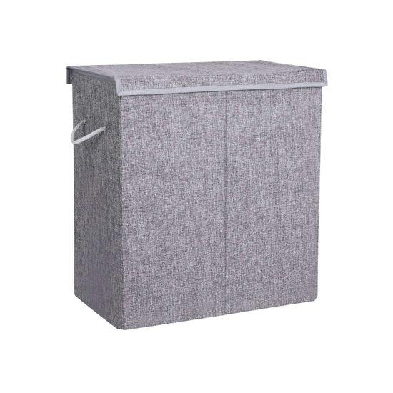 Wäschekorb Leinenimitat 142 L Grau