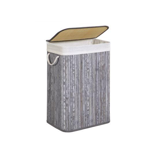 Wäschekorb 72 L Vintage grau