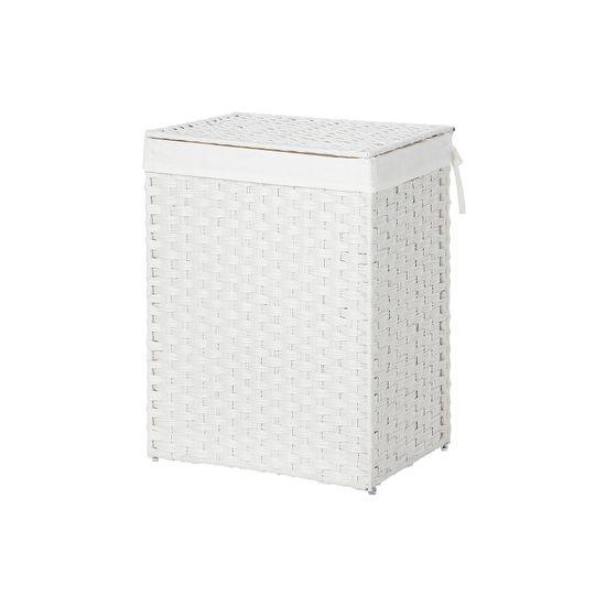 Wäschekorb aus Polyrattan Weiß