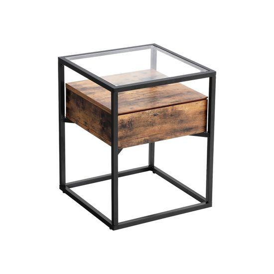 Industrie-Design Beistelltisch Glas