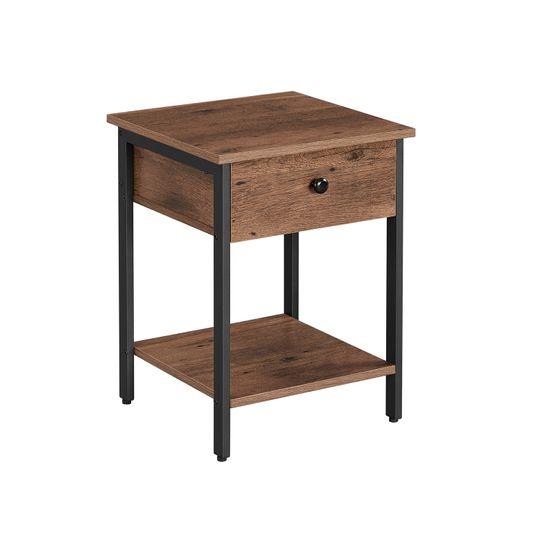 Nachttisch mit Schublade und Ablage