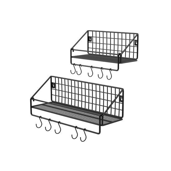 2 Wandregale Industrie-Design Schwarz