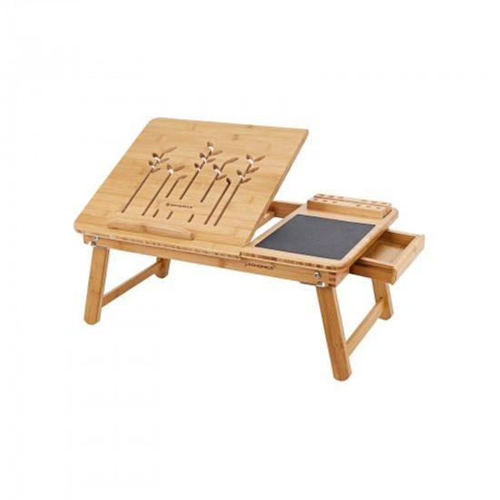 Hochklappbarer Laptoptisch Bambus