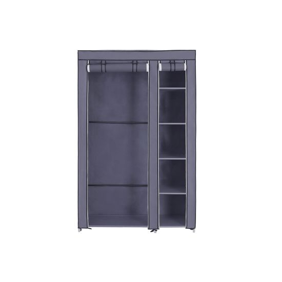 Stoffschrank 110 x 175 cm Grau