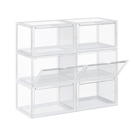 Schuhboxen 6 Stk bis Größe 46 Transparent