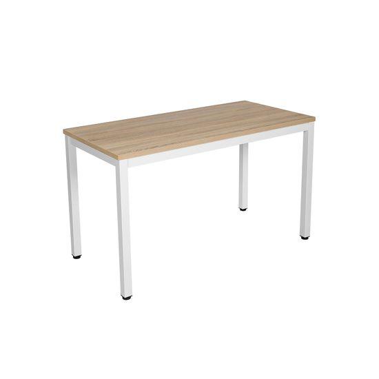 Moderner Computertisch Weiß-Natur