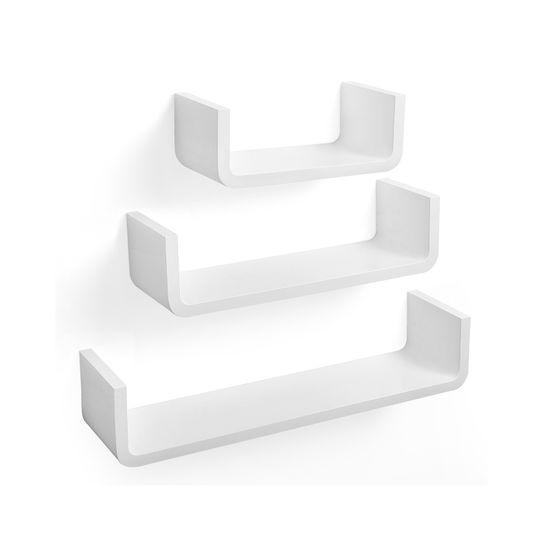 U-förmige Regalböden 3er Set Weiß