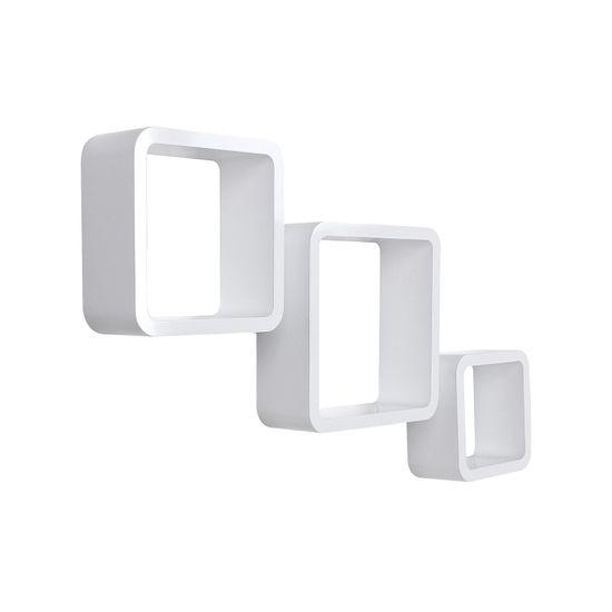 Quadratische Wandregale 3er Set Weiß