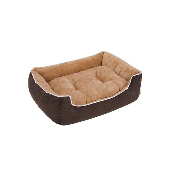 Weiches Hundesofa 90 cm Braun-Beige
