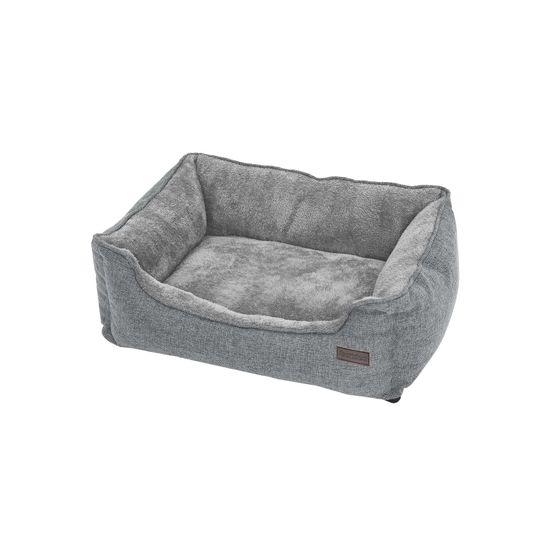 Waschbares Hundebett 90 cm Grau